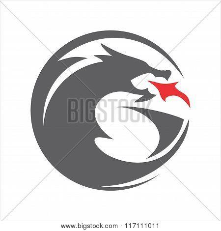 DRAGON CIRCLE SHILOUETTE