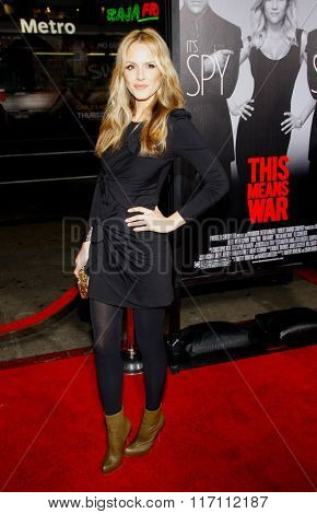 Monet Mazur at the Los Angeles premiere of