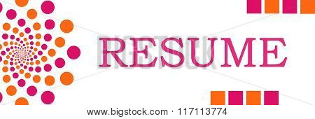 Resume Pink Orange Dots Horizontal