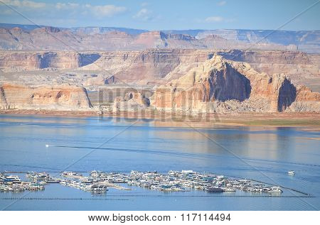 Lake Powell Marina, Arizona,  Usa