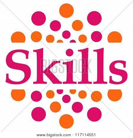 Skills Pink Orange Dots Circular Square