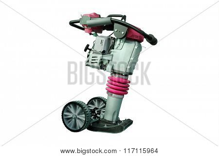 manual road repair machine isolated under the white background