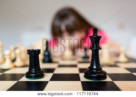 Child And Chess Board