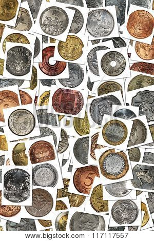 Background From Coins Of Different Countries