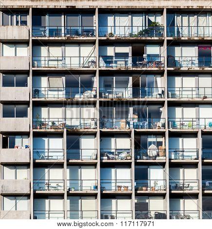 Residential High Rise Building Closeup