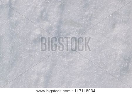 Snow And Ice In The Winter Season.