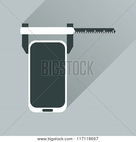 Flat web icon with long shadow mobile settings
