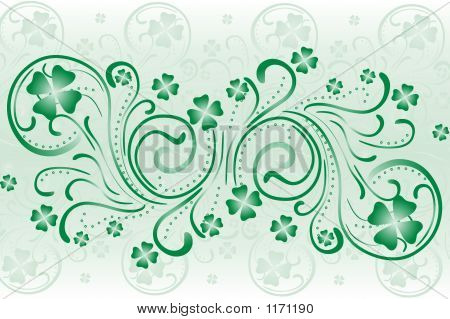 Clover Background Swirls