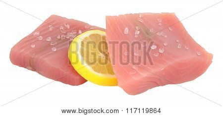 Raw Yellow Fin Tuna Steaks