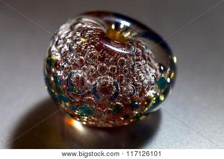 Macro shooting of colour glass bead