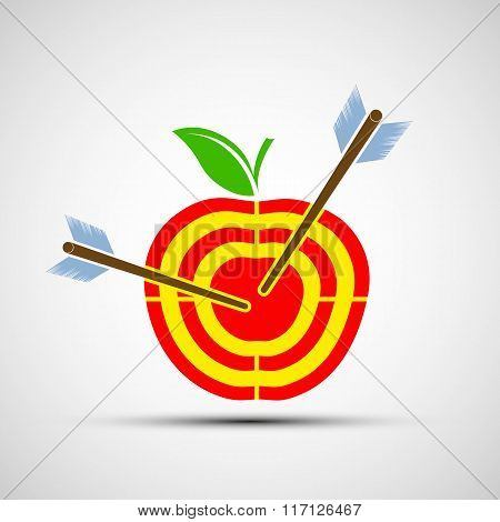 Target Apple. Icon Image.
