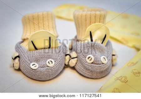 Baby booties 2