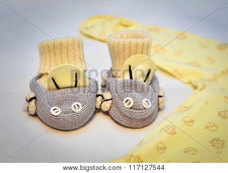 Baby booties 1