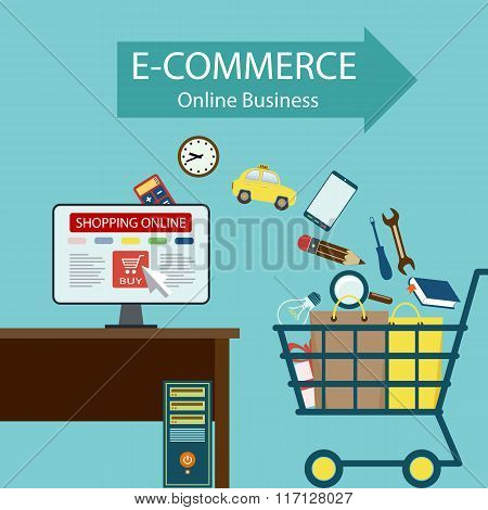 E-commerce. Online Business