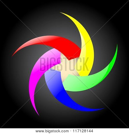 Spiral Rainbow with star