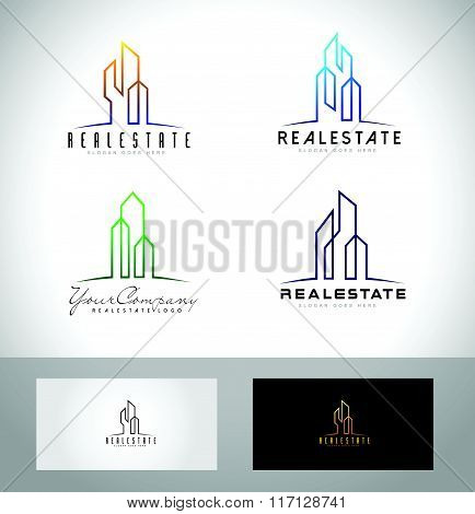 Real Estate Skyscrapers Logo