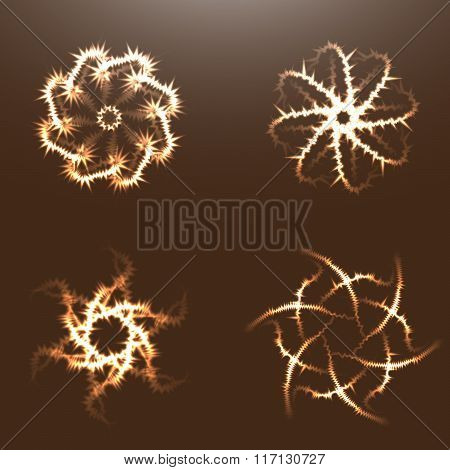 Abstract fractals with adaptation to background