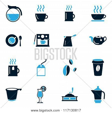 Cafe icons set