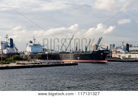 Tankers At Urban Industrial Port