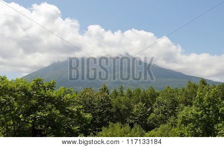 Mountain Izola in region of the resort Rusutsu. Japan, Hokkaido