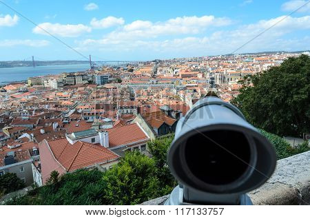 View of Lisbon from Sao Jorge Castle, Portugal, Europe