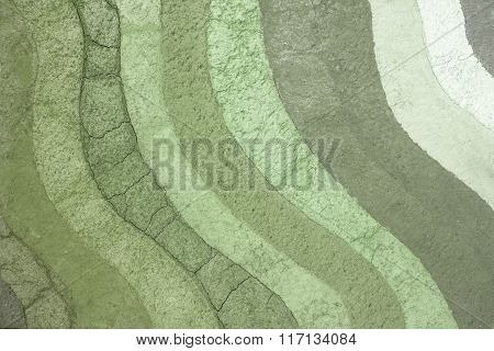 texture patterned layer of clay soil for the background.