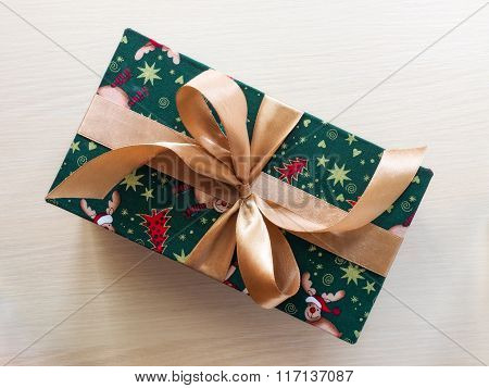 Gift box on the floor