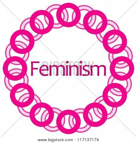 Feminism Pink Circular Rings Background