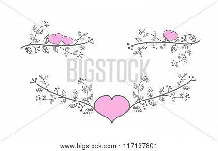 Decoration Floral Lines