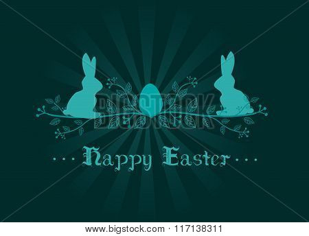 Easter Decoration Greeting Card