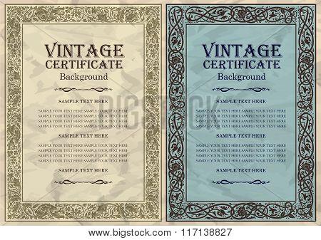 vintage frame design: art nouveau