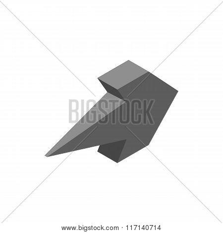 Two way arrow isometric 3d icon