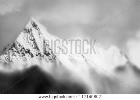 Mountain Peak In Monotone