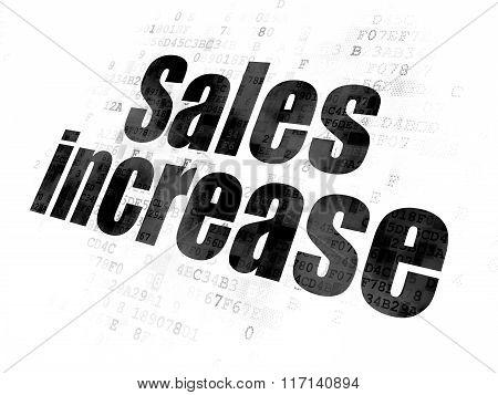 Marketing concept: Sales Increase on Digital background