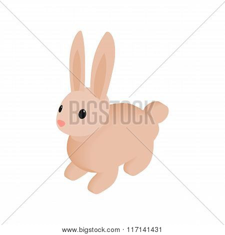 Easter bunny isometric 3d icon