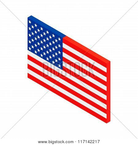 USA flag isometric 3d icon