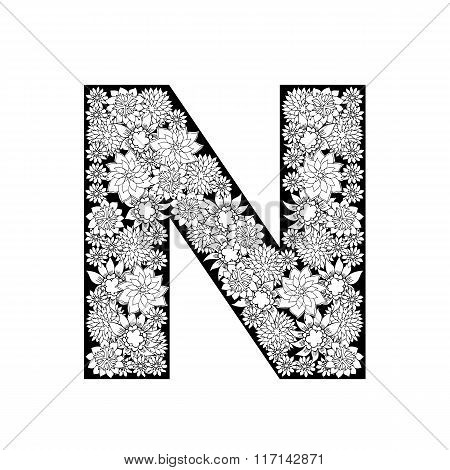 Black n White character design. Hand-drawn elements.
