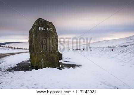 English Border Marker Stone