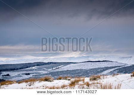The Cheviot Under Snow And Cloud