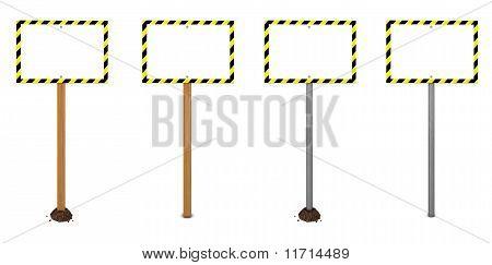 Quadrangular Warning Sign Variations