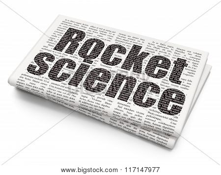 Science concept: Rocket Science on Newspaper background