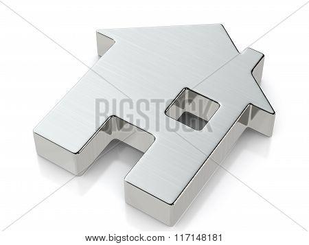 Metallic House Symbol