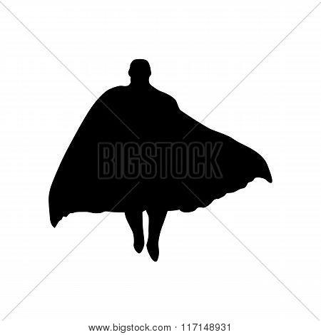 Superhero man silhouette