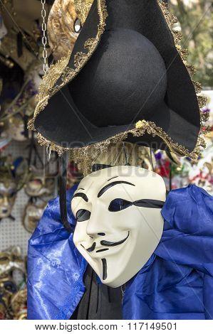 Venetian carnival anonymous mask