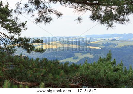 Panorama View From Affensteine In Saxon Switzerland