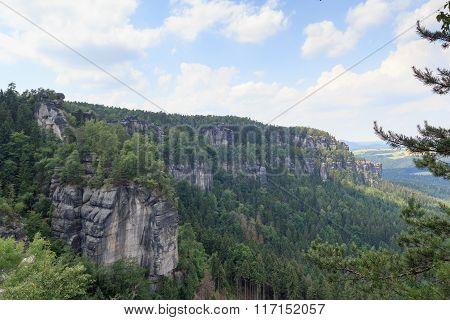 Group Of Rocks Affensteine In Saxon Switzerland