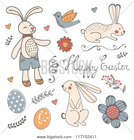 Beautiful collection of Easter related graphic elements
