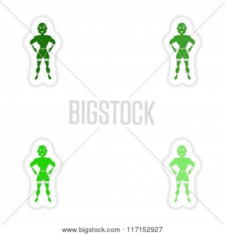 concept stylish paper sticker on white background carnival man