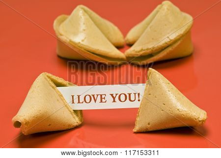 Chinese Fortune Cookie Saying I Love You