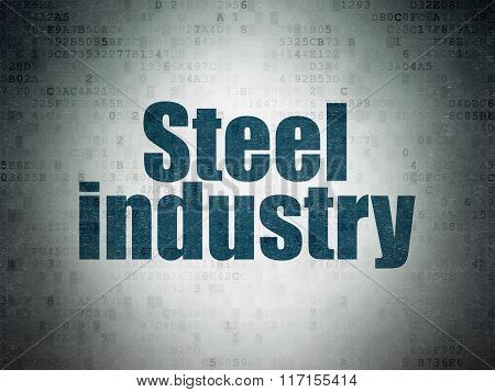 Industry concept: Steel Industry on Digital Paper background